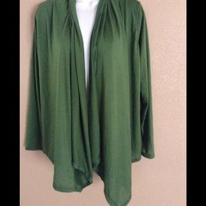 Pet Flys 1x Green Cardigan Lace Back